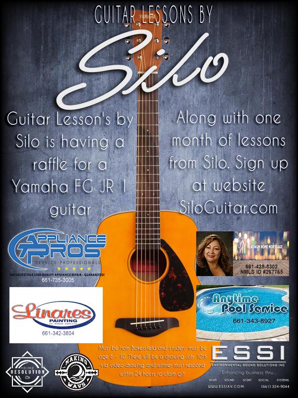 Bakersfield Guitar Lessons, Bakersfield Guitar Teacher, SILO Guitar Aficionado