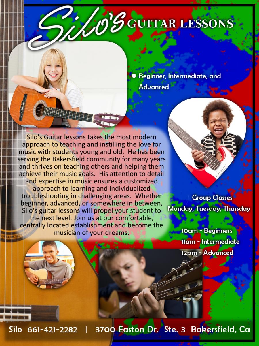 Bakersfield Guitar Teacher, Recording Studio Bakersfield CA, SILO Guitar Aficionado